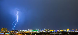Las Vegas Luxor lightening