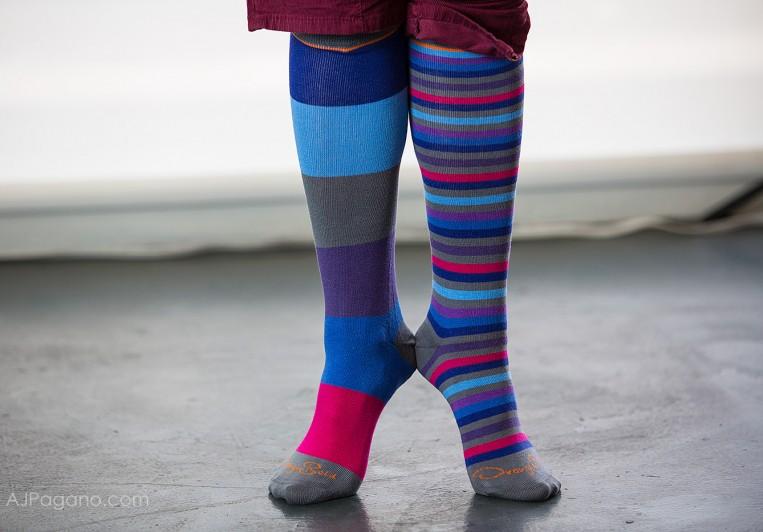 Orange Beld Socks toes