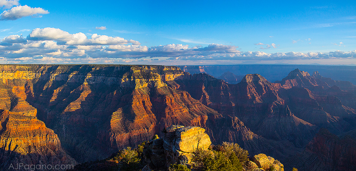 Grand Canyon North Rim Sunset print is available