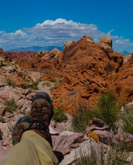 Kicking Back in Valley of Fire