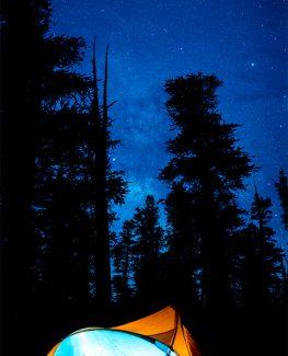 Cottonwood Campground Tent under the MilkyWay