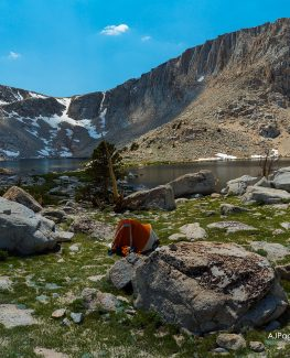 Cottonwood Lakes Basin with Northface tent