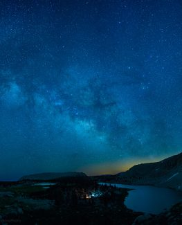 Cottonwood Lakes at Night with the Milky Way
