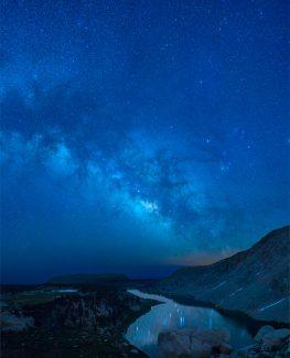 Milky Way Cottonwood Lakes Reflection