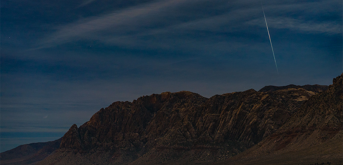 Geminid Meteor Shower at Red Rock Canyon in Las Vegas