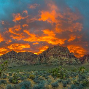 Red Rock Sunset Giants Campfire