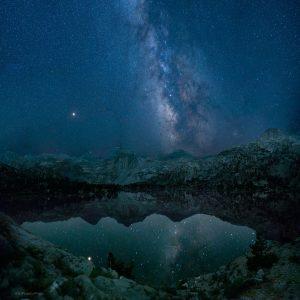 Rae Lakes Milky Way Reflection Kings Canyon National Park