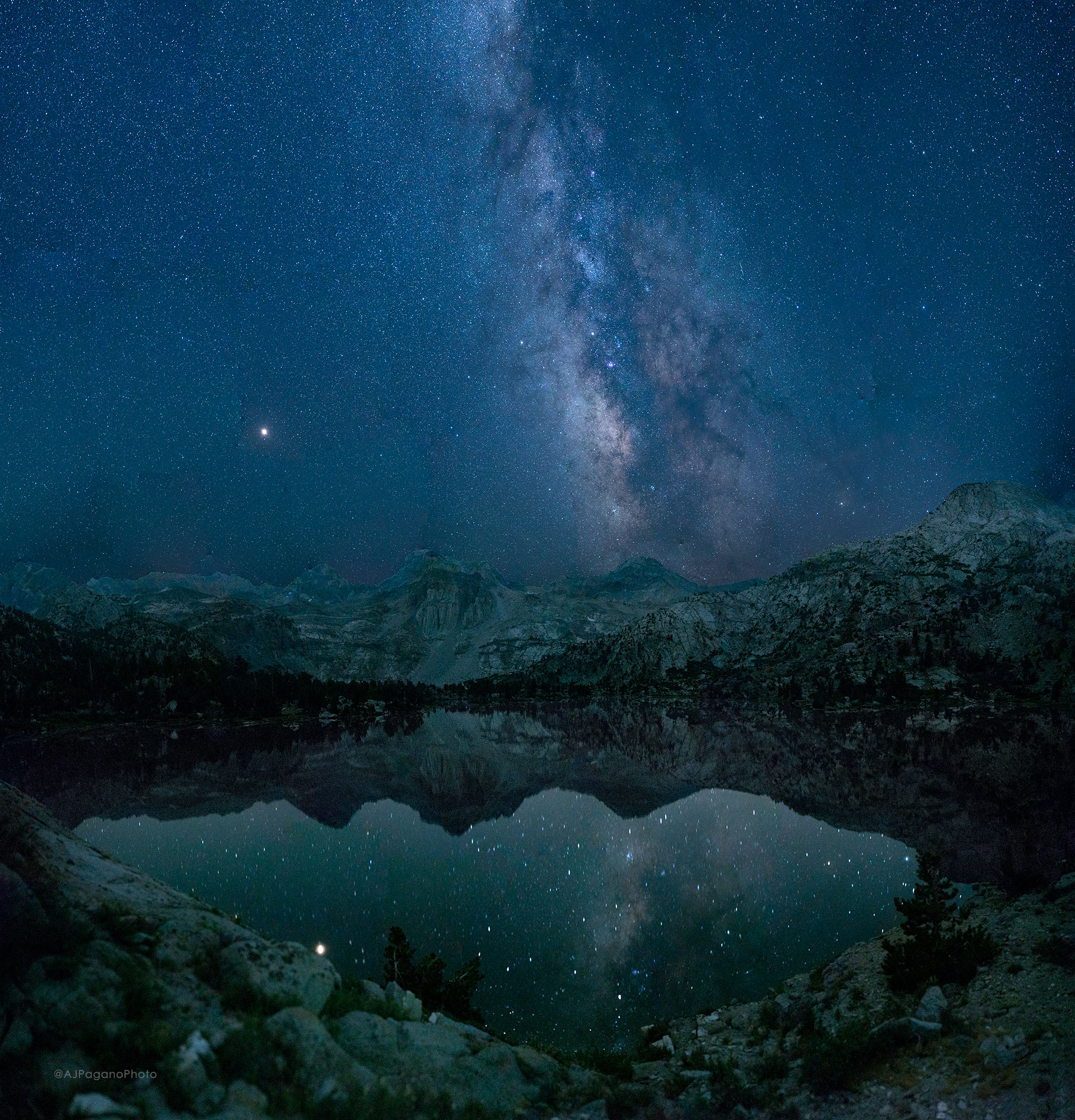 Rae Lakes Milky Way Reflection Kings Canyon National Park