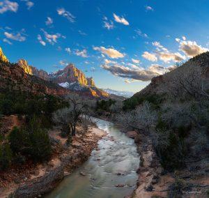 Zion VIrgin River Sunset